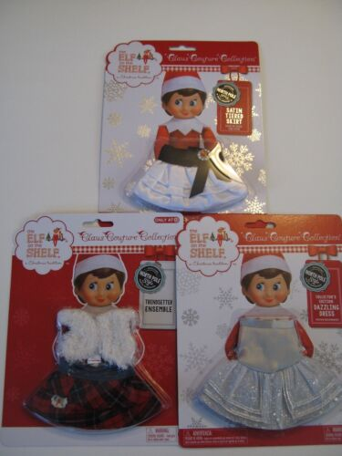 THE ELF ON THE SHELF CLAUS COUTURE CLOTHES DAZZLING DRESS, SKIRT AND TRENDSETTER