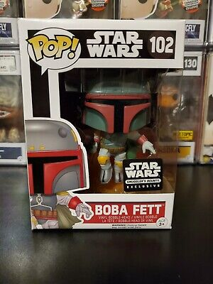 Funko Pop! Star Wars Boba Fett #102 Smuggler's Bounty Exclusive WITH PROTECTOR!
