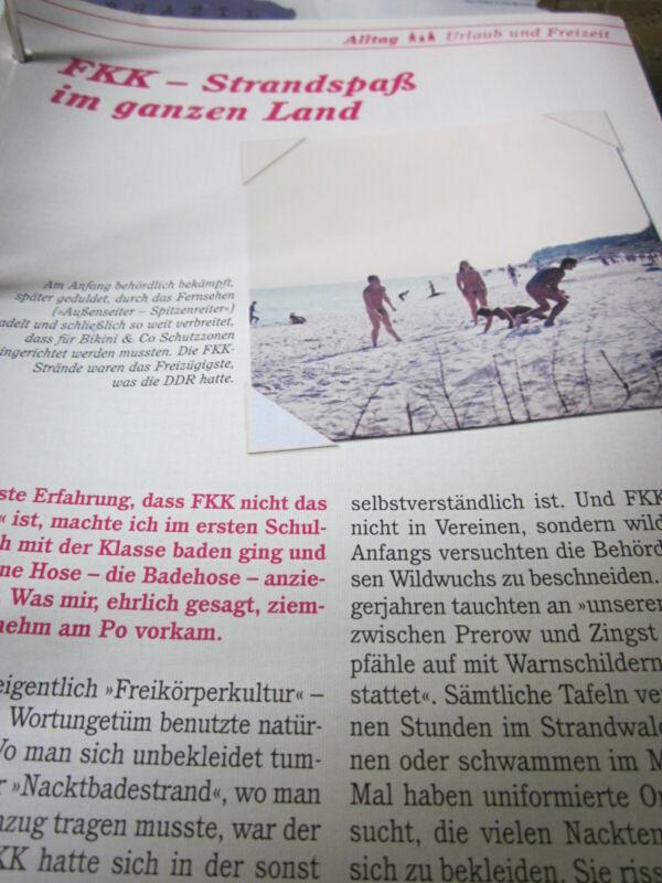 Das war die DDR N Urlaub Freizeit FKK Strandspass im ganzen Land