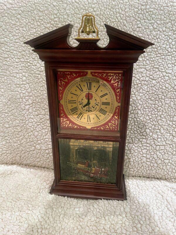 Vintage AHRENS-FOX Fire Engine Mantle Clock Franklin Mint Official Firemans Hall