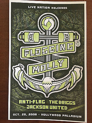 "Flogging Molly Concert Postcard - Hollywood Palladium 2008 8x6"""