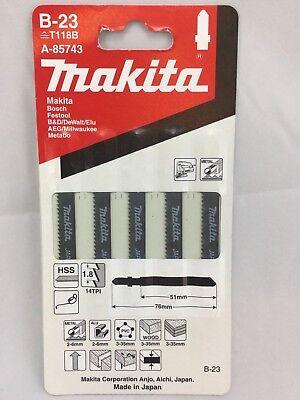 MAKITA B-23 t118b HSS 5 pack metal/wood jigsaw blades fit BOSCH FESTOOL DEWALT
