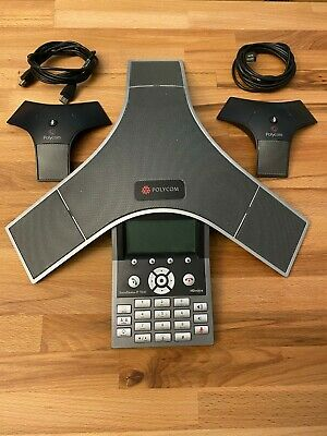 Polycom Soundstation Ip 7000 Voip Conference Phone With 2 Extended Microphones