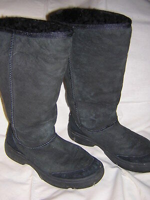 UGG * 5 * Black Ultimate Tall Braid Boots Sheepskin Lining 5340, used for sale  Clawson