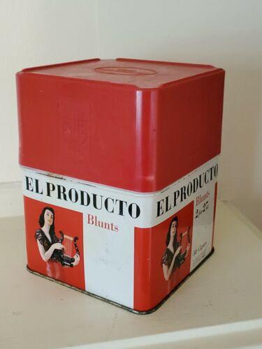 Vintage El Producto Blunts Cigar Tin - 2 for 27 cents - Red Top Cap