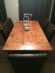 Newly built dining room table