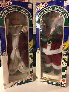 Lighted animated Santa and Mrs. Clause