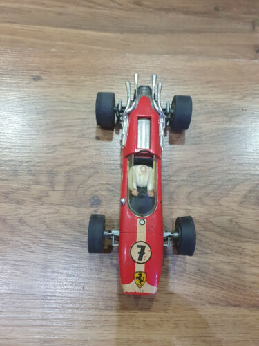 1:32 Fleischmann Ferrari V12 F-1 Red Race Car vintage used..see condition