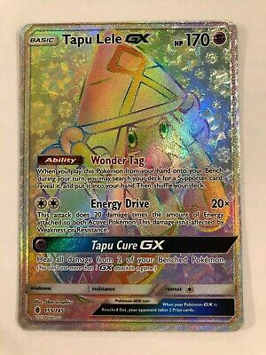 Tapu Lele GX Secret Rare 155/145 Pokemon Card - Near Mint Condition