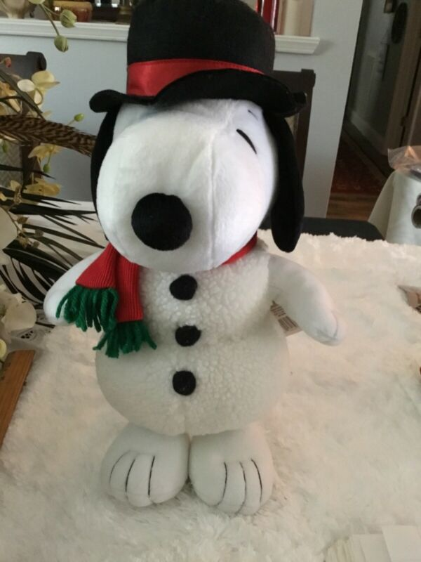 Hallmark Peanuts Snowman Snoopy 15 inches Tall Plush