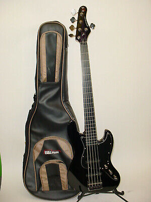 KSD Ken Smith Design Proto-J Fretless 5-String Electric Bass (Fretless Electric Bass Guitar)