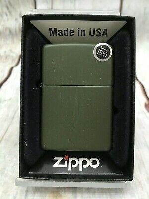 Zippo Lighter #221 REG GREEN MATTE ARMY ~Brand New Original Packaging~