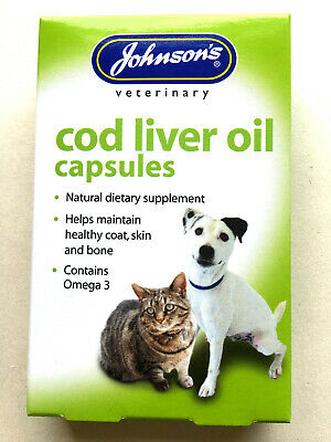 Johnson's Cod Liver Oil Capsule (Suitable for Cats, Dogs,Pigeons,Cage Birds)