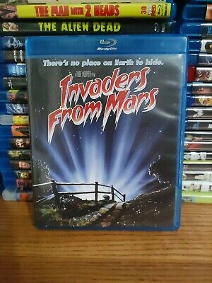 INVADERS FROM MARS Bluray Scream Factory 1986 Sci-Fi Horror Tobe Hooper RARE OOP