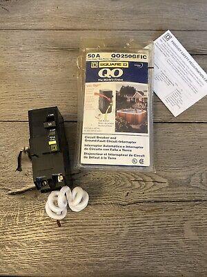 Square D Circuit Breaker Qo250gfic 2 Pole 50 Amp 120240v 60 Hz