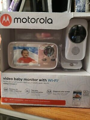 "Motorola MBP667CONNECT 2.8"" Video Baby Monitor w/ WiFi White - New"