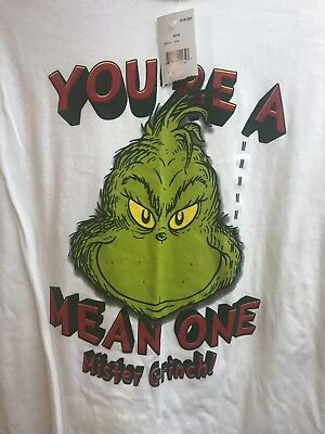 "Dr. Seuss ""You're A Mean One Mr. Grinch"" Adult Medium Christmas T-shirt NEW (Grinch Clothes)"