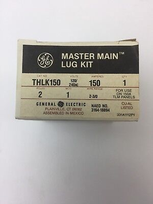 Ge Thlk150 Master Main Lug Kit 120240vac 150a 2 Poles For Use On 150a Tlm Panel