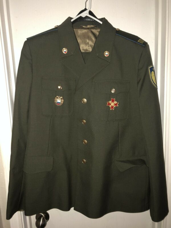 Military Uniform Jacket & Pants Halloween Costume Cosplay Theater  Men Sz XL