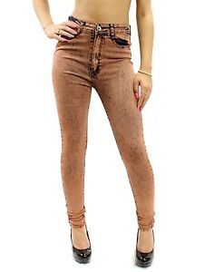 New Sexy Acid Wash High Waist Skinny Leg Jeans Junior's Size 1-21 RDF0314 - Ceci