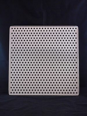 "NEW Laboratory Stainless Steel Perforated Incubator Shelf 18-1/2"" x 18-1/2"""