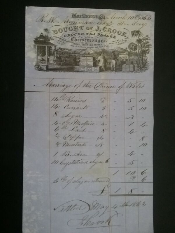 VICTORIAN INVOICE FOR GOODS ****(SEE DESCRIPTION FOR DETAILS)****