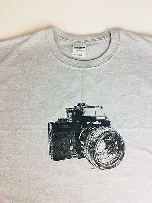Used, Vintage Minolta XK 35mm Camera MC Rokkor 1.2 Lens  T Shirt XXL. for sale  Redford