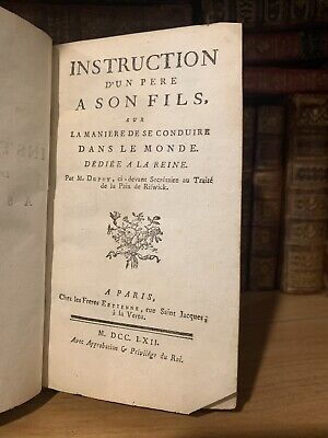 1762 INSTRUCTIONS FOR THE FATHER REGARDING HIS CHILDREN - Family Education