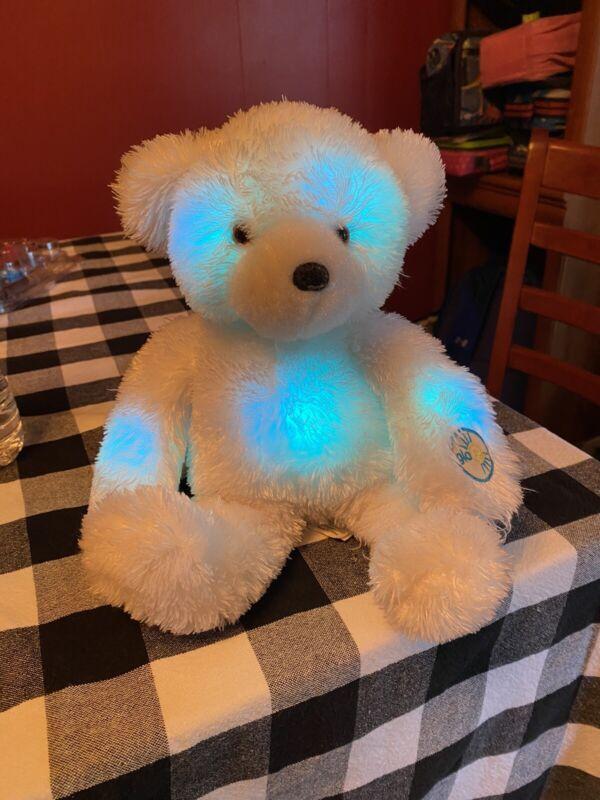 White Glo Bear 2005 Cepia Changes Colors Fiberoptic Light Up Plush Animal