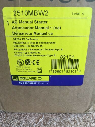 NEW SQUARE D AC MANUAL STARTER 2510MBW2