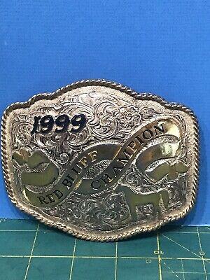 RODEO VINTAGE TROPHY BELT BUCKLE~Red Bluff Champion Buckle 1999 Crumline USA