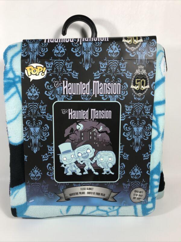 "New Funko Disney Haunted Mansion 50th Anniversary Plush Throw Blanket 48"" X 60"""