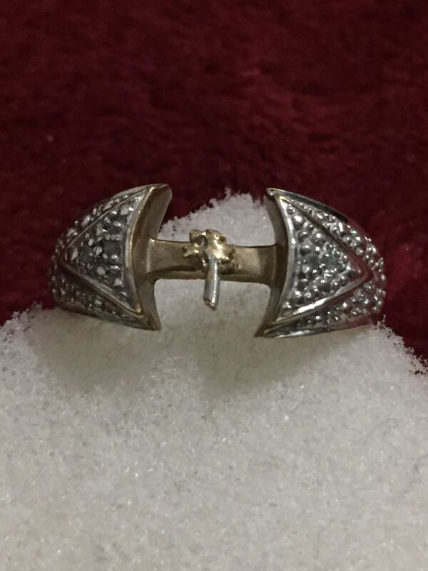 10kt Yellow Gold No Head Ring Scrap Or Wear Size 7