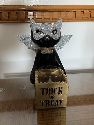 "Yankee Candle Halloween Sophia The Cat ""Trick Or Treat"" Votive Holder"