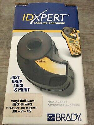 Brady Idxpert Vinyl Self-lam Black On White Xsl-21-427