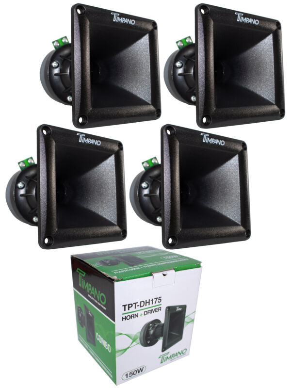 """4x Super Horn and  Driver Combos TPT-DH175 150W 1""""   8 Ohm"""
