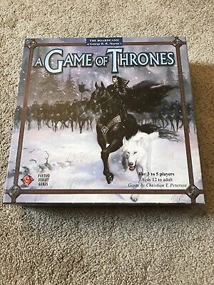 A Game of Thrones Board Game 1st Edition Fantasy Flight Games George RR (Game Of Thrones Board Game 1st Edition)