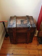shabby chic vintage wooden box table Paddington Eastern Suburbs Preview