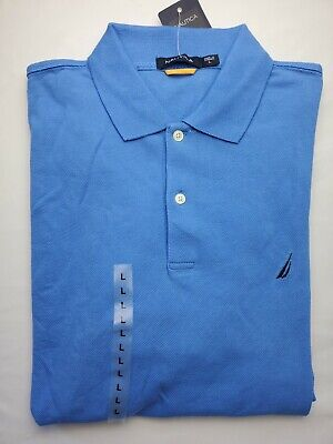 Nautica Periwinkle Blue Short-Sleeved Polo Shirt. Size L NWT