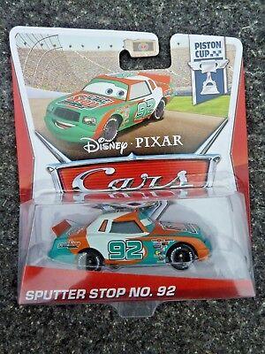 Disney Pixar Cars SPUTTER STOP NO. 92 Piston Cup Edition 15/18