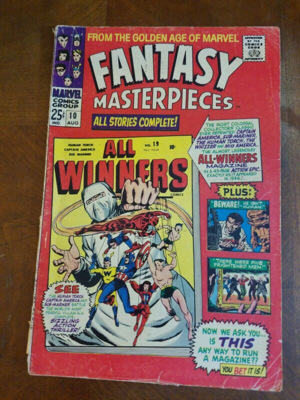 Fantasy Masterpieces Vol 1 #10 (1966) Free Ship at $30+
