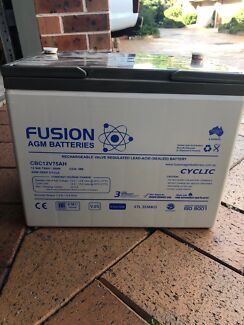 75AH deep cycle fusion agm battery Epping Ryde Area Preview