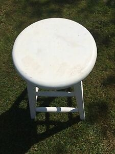Solid Wood Stool 2.5 feet. Excellent Condition.  DIY paint