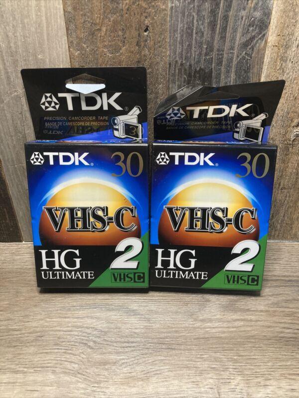 Set of 4 Sealed Tapes: TDK VHS-C HG Ultimate TC-30HGL2 Blank Camcorder Tape