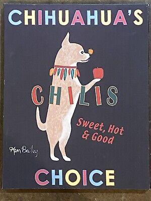 "Ken Bailey Canvas Print - ""Chihuahua's Choice Chilis"" - 11"" by 14"""