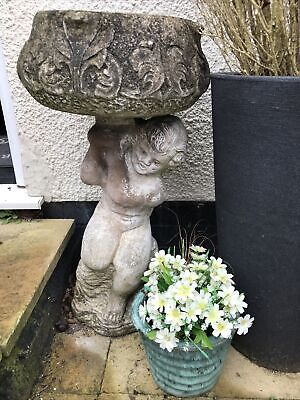 Garden Urn Ornament Cupid - Collection Only