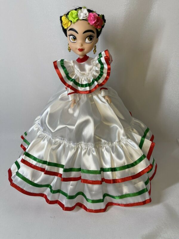 "🔥sale🔥Frida Khalo Doll Muñeca de Frida 13"" H Beautiful Doll Dress Is Handmade"