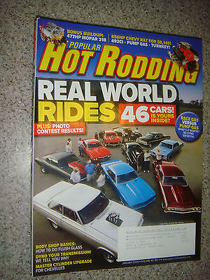Jan 2009 Popular Hot Rodding: 46 Real Rides, 477HP Mopar 318, 656HP Chevy Rat