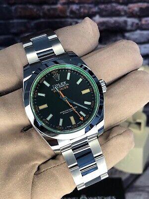 ROLEX Milgauss 116400GV Black dial Green glass 2021 Unworn Model COLLECTABLE