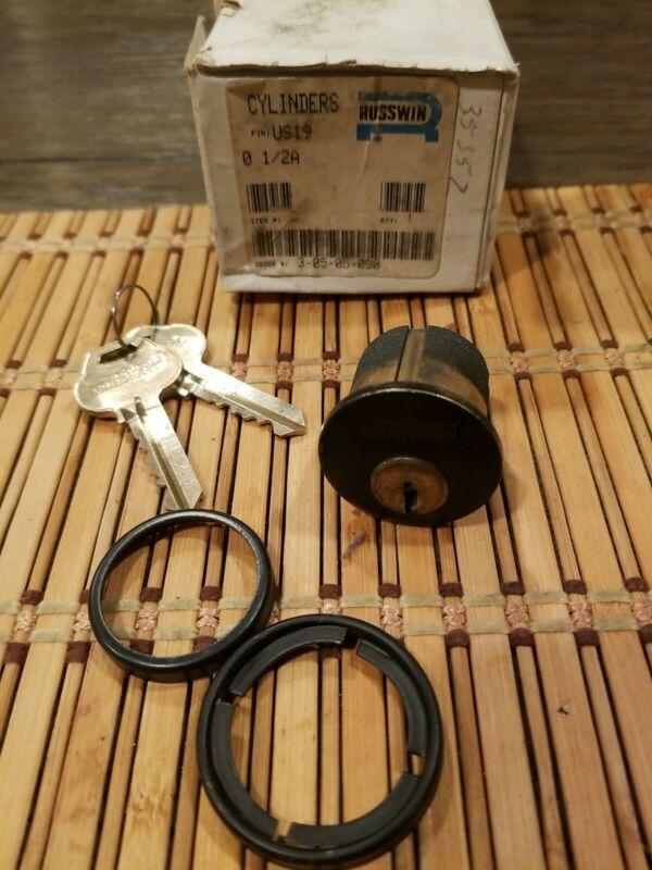 Corbin Russwin Rem Core 1 1/8 Mortise Cylinder Housing,bronze Locksmith w/ Keys